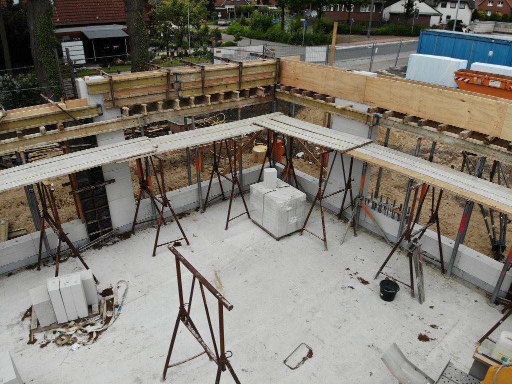 Das Foto zeigt einen Blick in den zukünftigen Schulungsraum, der sich im vorderen Bereich des Dienstgebäudes befindet.
