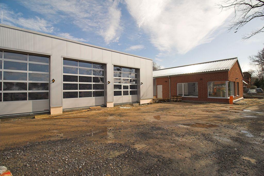 Das neue Feuerwehrgerätehaus Otternhagen in der Außenansicht.
