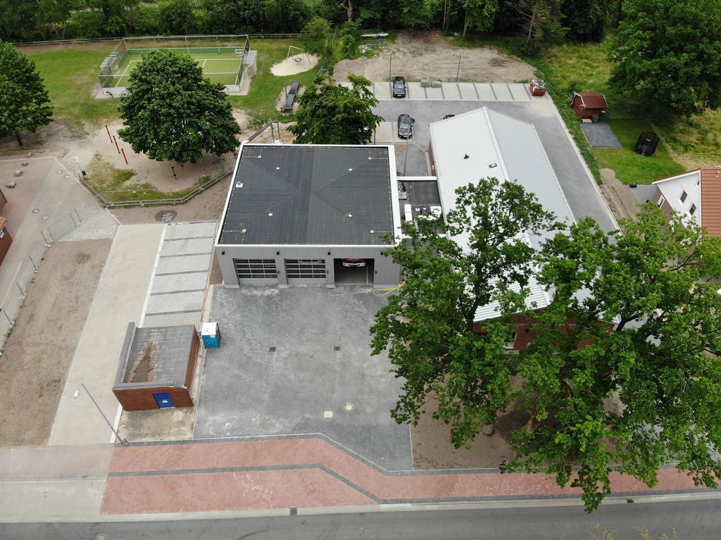 Das Foto zeigt das neue Feuerwehrgerätehaus Otternhagen.